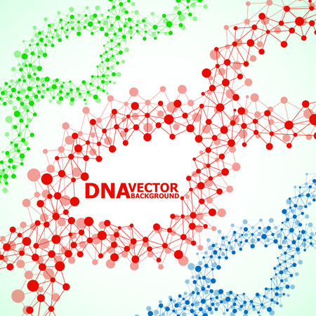 Abstract DNA spiral, molecule structure. Vector illustration. Eps 10 Illustration