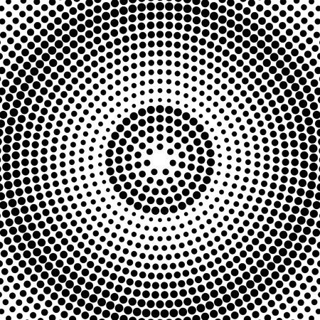 Résumé fond pointillé. motif radial. Vecteur