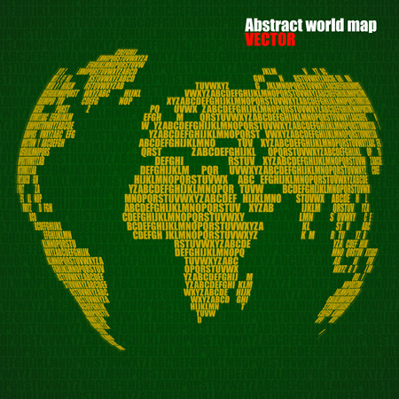 Abstract world map with letters of english alphabet vector abstract world map with letters of english alphabet vector globe background vector gumiabroncs Images