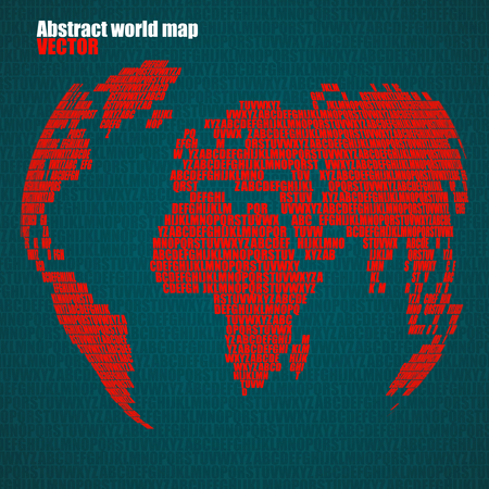 Abstract world map with letters of english alphabet vector globe 74002379 abstract world map with letters of english alphabet vector globe background gumiabroncs Images