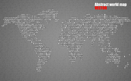 Abstract world map with letters of english alphabet vector abstract world map with letters of english alphabet vector background vector gumiabroncs Images