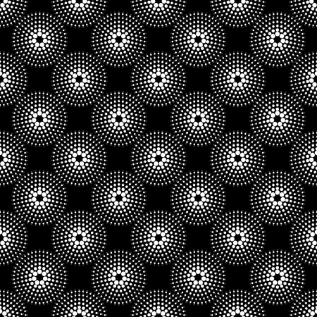Spectacular wallpaper pattern with dotted circles. Modern stylish texture. Geometric background. Vector Illustration