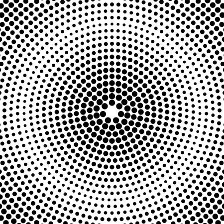 Résumé fond pointillé. motif radial. Vecteur Vecteurs