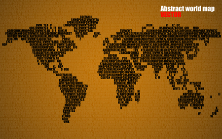 Abstract world map with letters of english alphabet vector abstract world map with letters of english alphabet vector background vector gumiabroncs Image collections