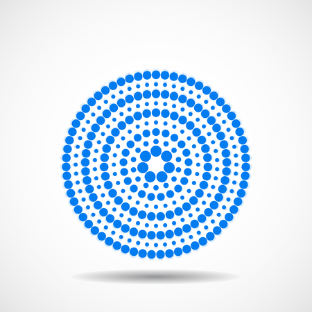 Abstract dotted circles. Colorful dots in circular form. Vector design element