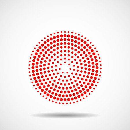 Abstract dotted circles. Colorful dots in circular form. Vector design element Vektoros illusztráció