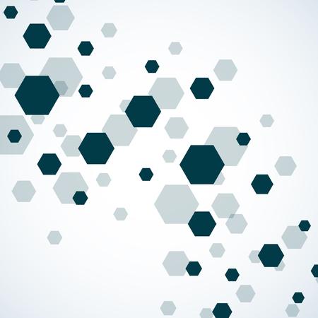 alternating: Hexagonal molecule of DNA. Molecular structure. Geometric background. Vector Illustration