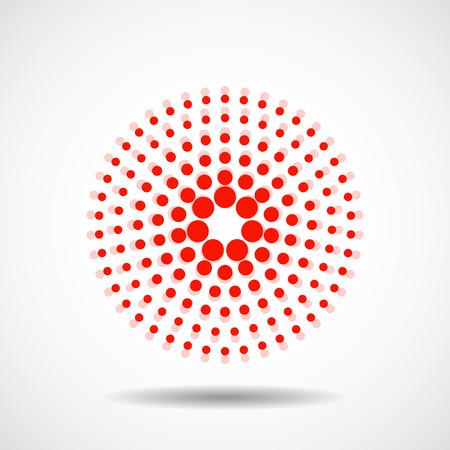 cerchi tratteggiate astratti colorati sovrapposti in elemento di progettazione vettoriale elemento circolare Vettoriali