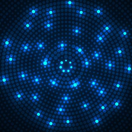 Abstrait brillant pointillé. Motif radial. Vecteur Vecteurs