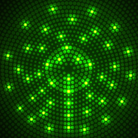 Abstract glowing dotted background. Radial pattern. Vector
