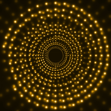 Abstract technology background of glowing circles. Vector illustration. Eps 10
