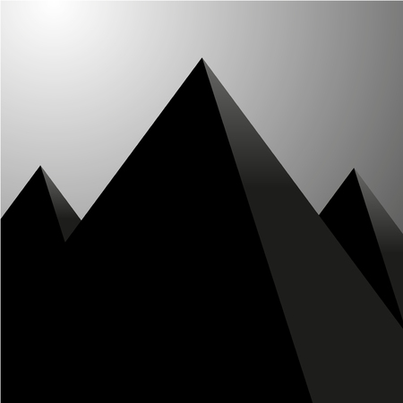 Abstract background of pyramids, vector illustration, eps 10