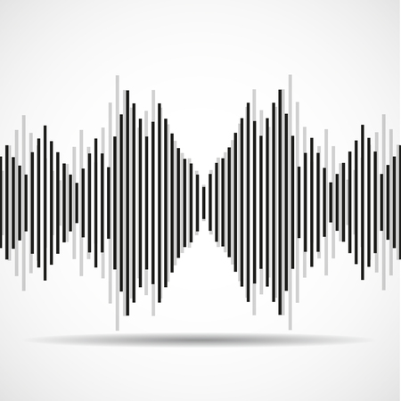 radio beams: Abstract technology background with wave as equalizer. Vector illustration. Illustration