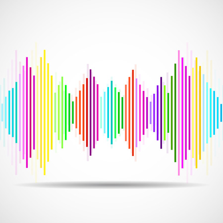radio beams: Abstract technology background with wave as equalizer. Vector illustration. Eps 10 Illustration