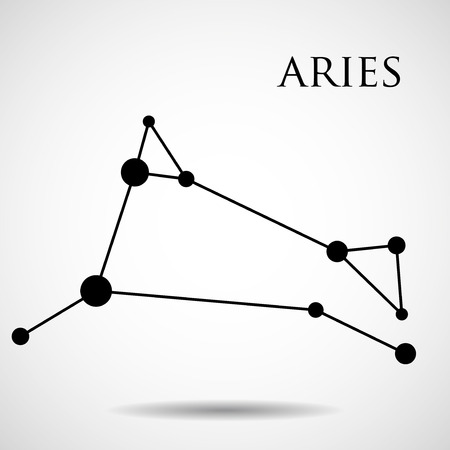 interoperability: Constellation aries zodiac sign isolated on white background. Vector illustration. Eps 10