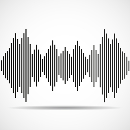 radio beams: Abstract technology background with wave as equalizer. Vector i