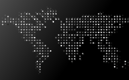 Abstract world map of dots on black background vector ilustraciones abstract world map of dots on black background vector gumiabroncs Images