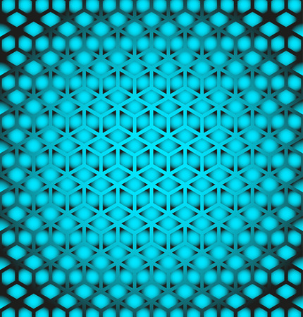 Abstract geometric background with cubes. Geometrical concept Illustration
