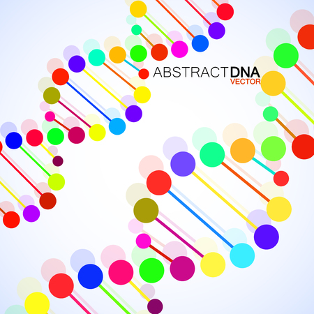 Abstract spiral of DNA, stylish molecule background Illustration