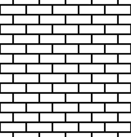 Naadloze bakstenen muur achtergrond. Baksteen patroon. Vector Stock Illustratie