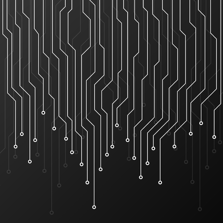 electronic background: Circuit board on black background. Abstract technology