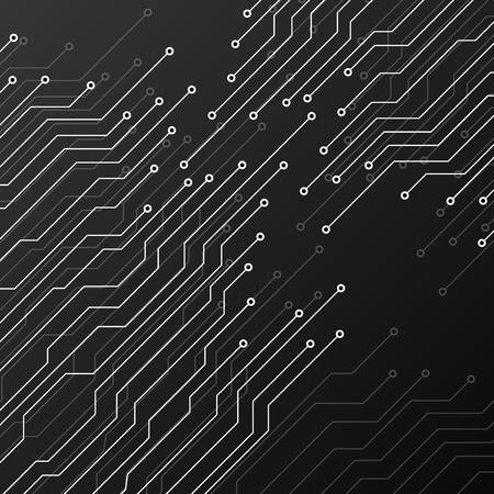 electronic background: Circuit board on black background. Abstract technology, vector illustration eps 10 Illustration