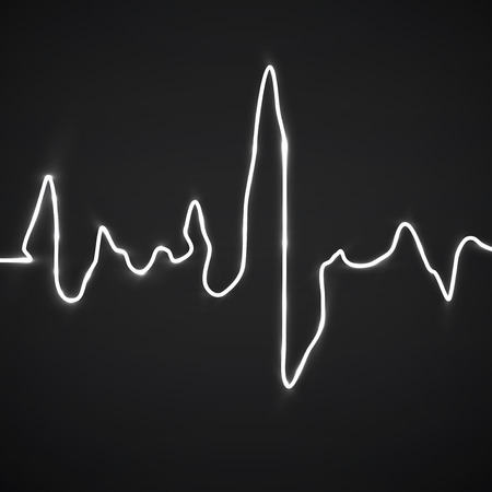 Abstract heart beats. Cardiogram background. Vector illustration. Eps 10