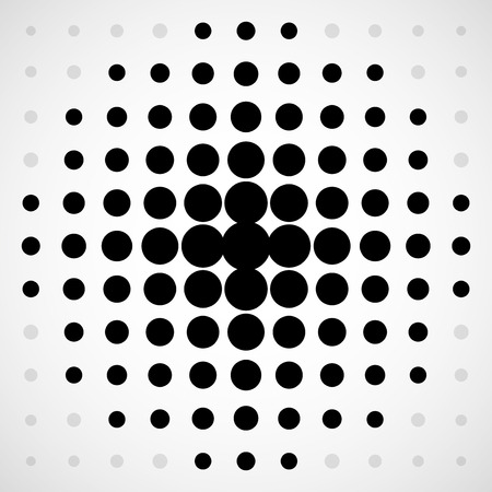 Abstract halftone dotted background. Halftone circles. Vector