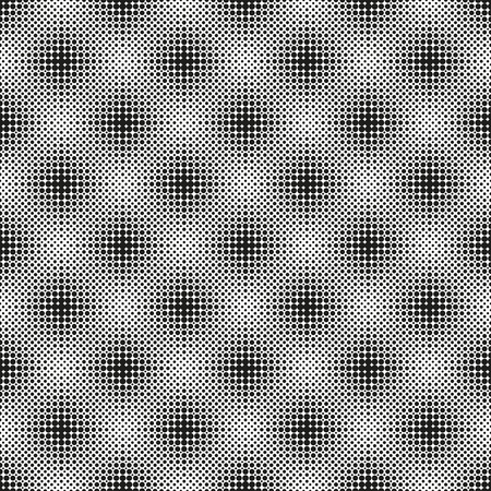 Halftone seamless pattern with dotted circles. Modern stylish texture. Geometric background