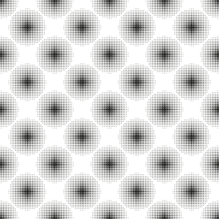 Halbton nahtlose Muster mit gepunkteten Kreisen. Moderne stilvolle Textur. Geometrischer Hintergrund Illustration