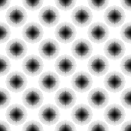 Halftone seamless pattern with dotted circles. Modern stylish texture. Geometric background