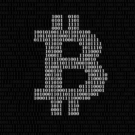 Abstract sign bitcoin of binary code. Vector