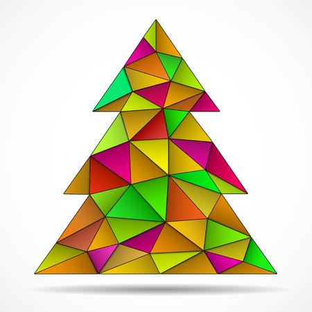 Abstrakter bunter Weihnachtsbaum von den Dreiecken. Vektor