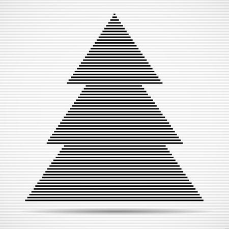 Arbre de Noël abstrait de lignes. Illustration vectorielle Eps 10 Banque d'images - 91322854