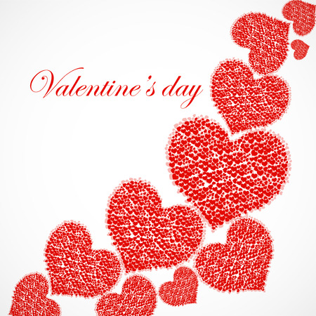 Valentines day background with hearts. Vector illustration. Eps 10