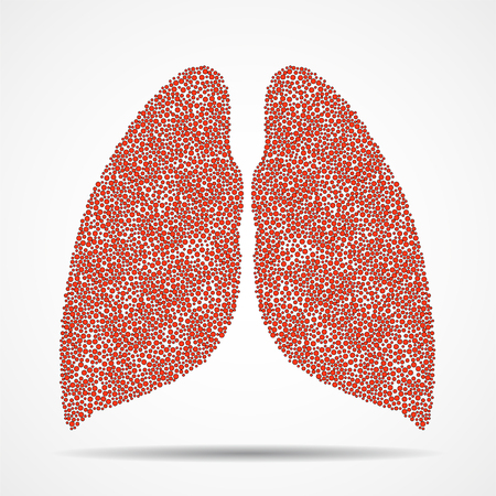 Abstract human lungs of colorful dots. Vector Illustration