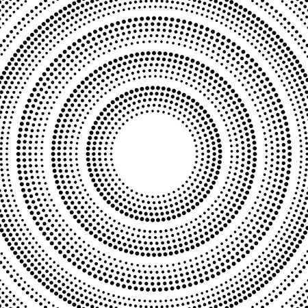 Abstract background of smooth glowing dotted lines, halftone wave. Vector Illustration
