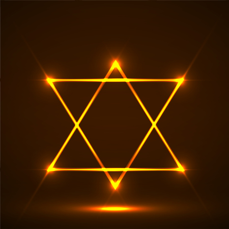 Star of David. Abstract symbol of glowing lines Stock Photo - 108845786