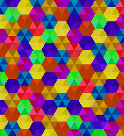 Abstract background of colorful hexagons. Pattern of geometric polygons