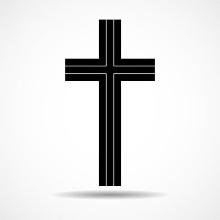 Abstract cross. Christian Symbol. Sign of lines. Vector Illustration