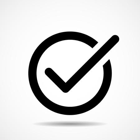 Check mark icon. Flat icon. Symbol. Vector