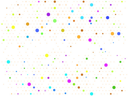 Abstract background with colorful circles. Modern texture. Geometric background