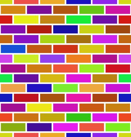 Seamless brick wall background. Colorful brick pattern Vector Illustration