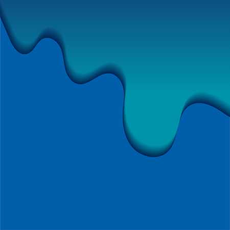 Abstract background with blue waves. Colorful banner with paper cut waves