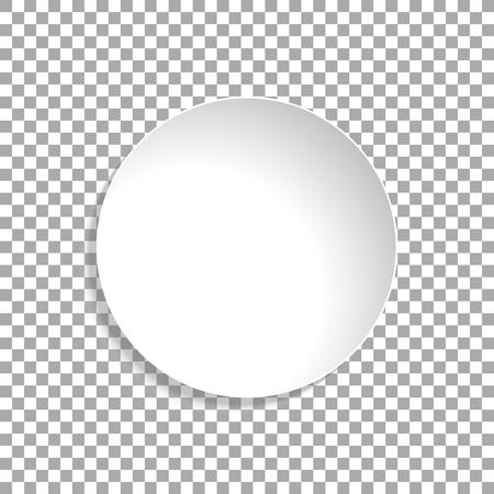 Autocollant de cercle de papier vecteur isolé sur fond transparent. Livre blanc vide