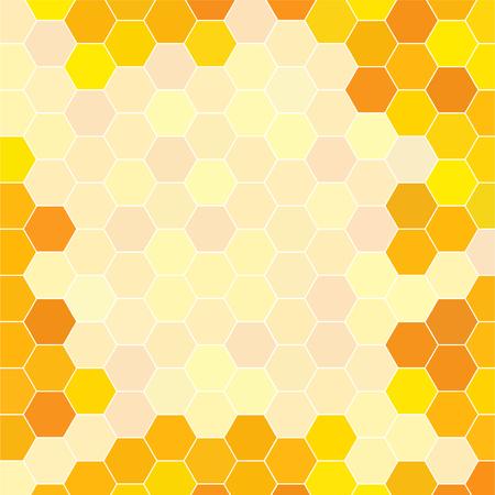 Abstract honeycomb pattern. Geometric hexagons background. Vector Ilustracje wektorowe