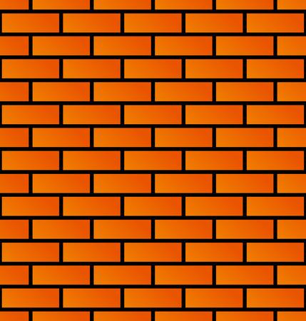 Seamless brick wall background. Brick pattern. Vector Vector Illustratie