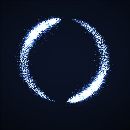 Abstract shine dust, glowing circle with lights particle