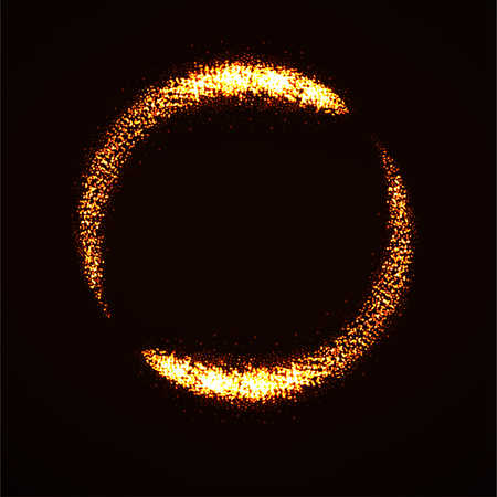 Abstract shine dust, glowing circle with lights particle 矢量图像