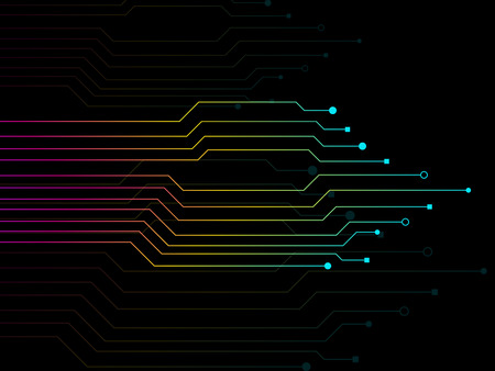 Circuit board, technology background, electronic concept, vector Ilustrace